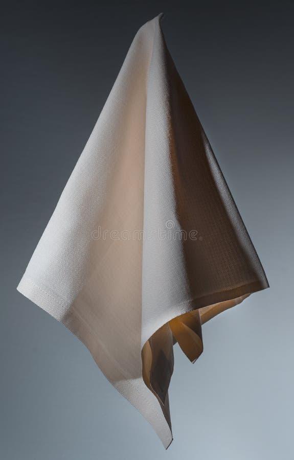 Servilleta marrón del algodón para arriba en el aire fotos de archivo libres de regalías