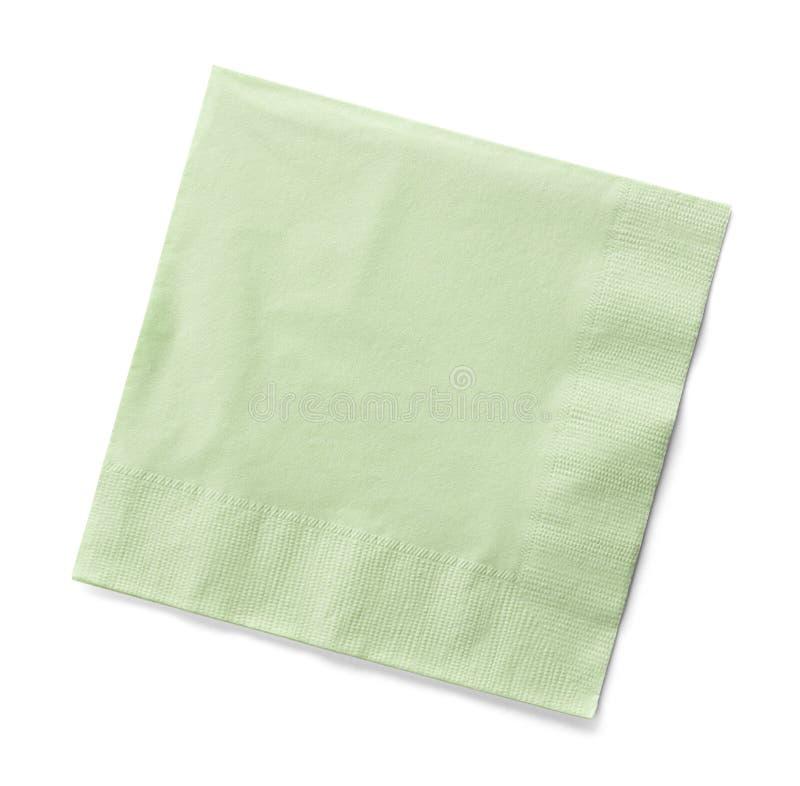 Servilleta verde imagen de archivo libre de regalías