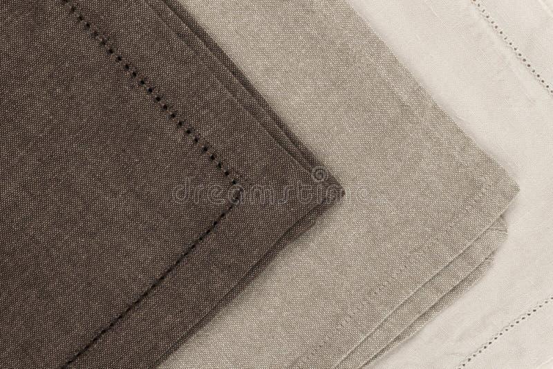 Servilletas de lino imagenes de archivo