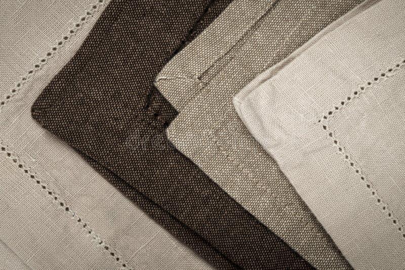 Servilletas de lino imagen de archivo