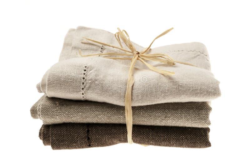 Servilletas de lino imagen de archivo libre de regalías
