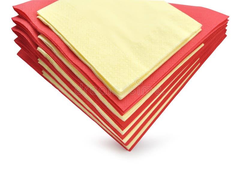 Servilletas de papel coloridas imágenes de archivo libres de regalías