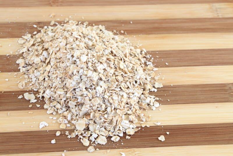 Serving av oatmealen royaltyfri fotografi