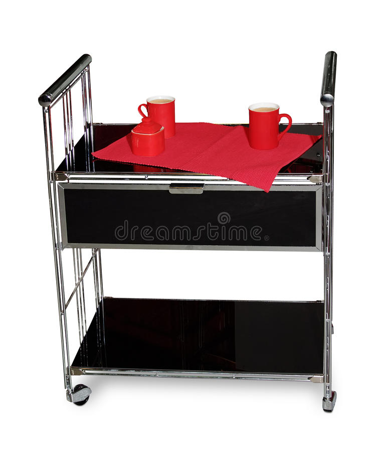 Download Serving Cart With Two Cups Of Coffee Stock Photo - Image: 11440374