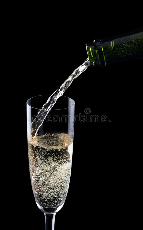 Download Serving champagne stock photo. Image of alcoholic, black - 27871344