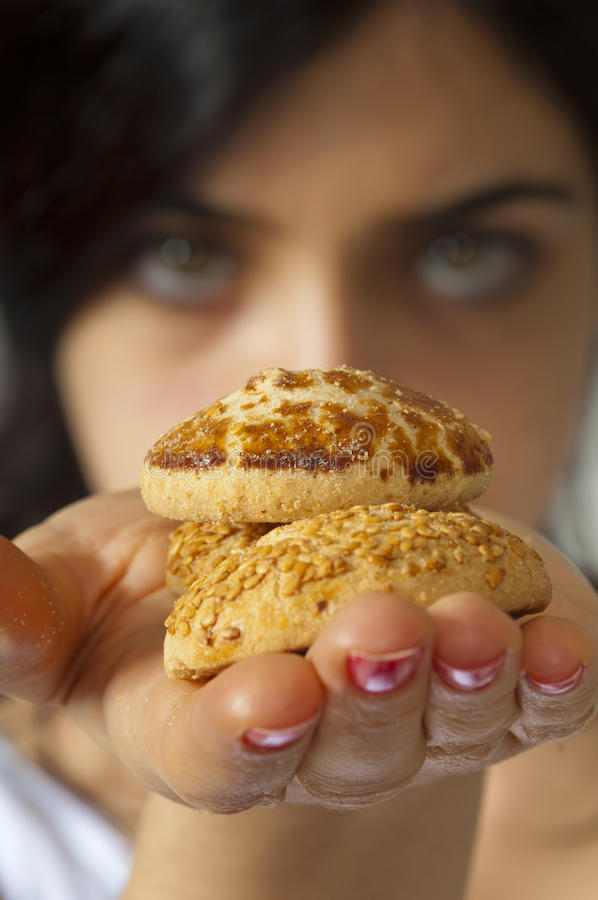 Download Cookies on Hand stock photo. Image of eyes, loose, lose - 19387308