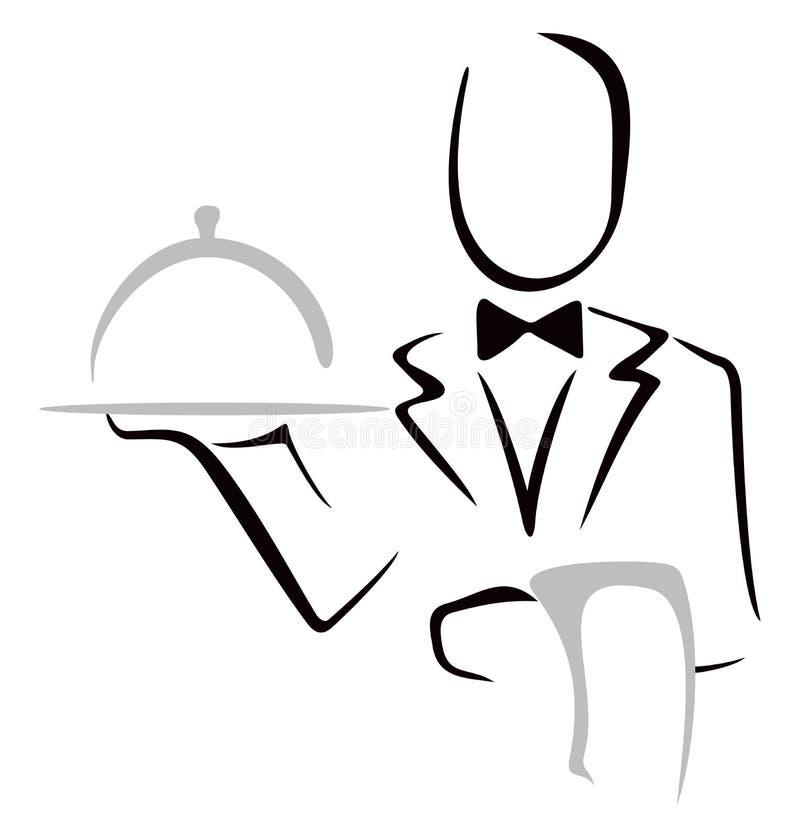 Serving dinner stock illustration
