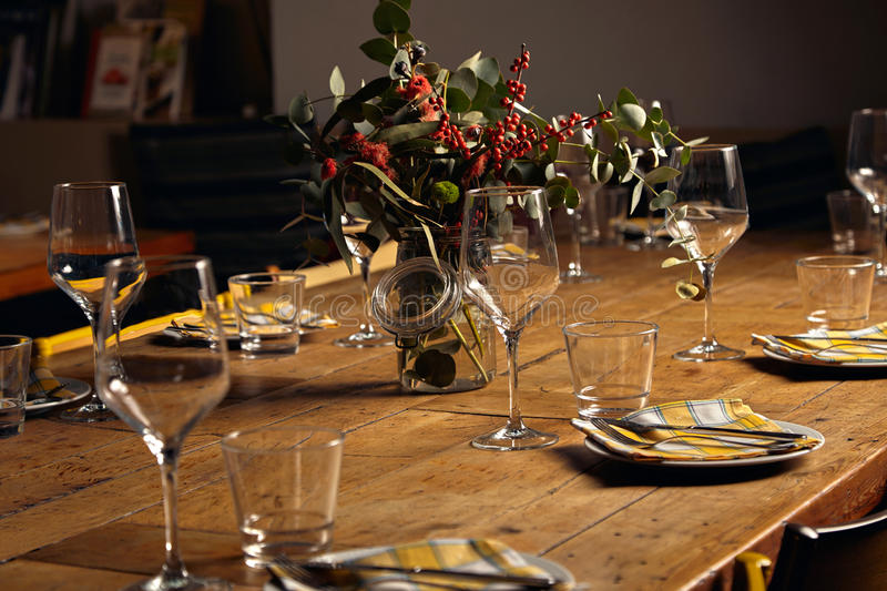 Download Serving Dinner Table Set Stock Photo. Image Of Christmas   84740404