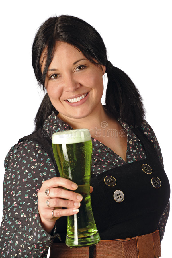 Download Serving The Green Beer Royalty Free Stock Photography - Image: 8581307
