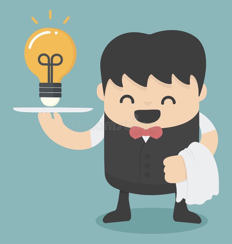 Serving idea vector illustration