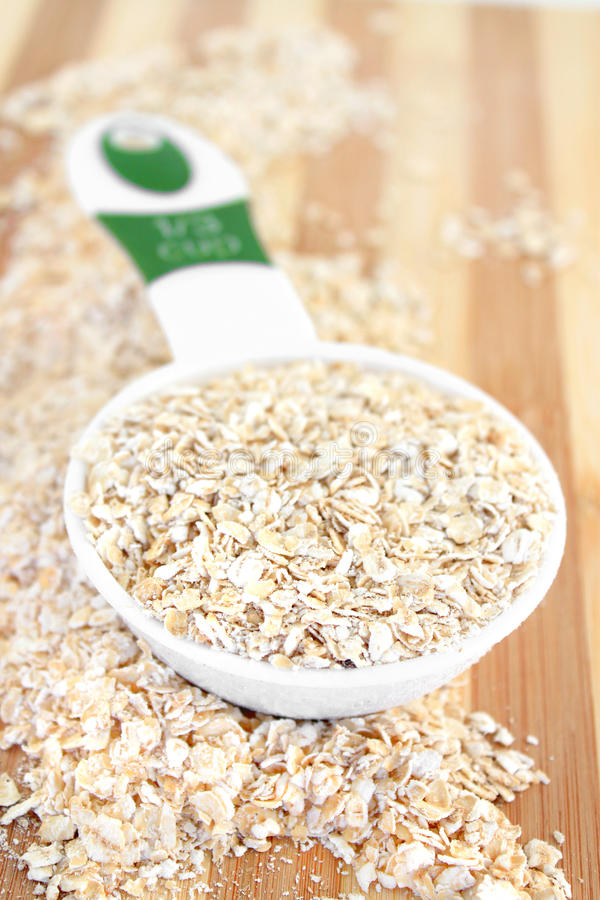 Download Serving of Oatmeal stock photo. Image of oats, serving - 26293526