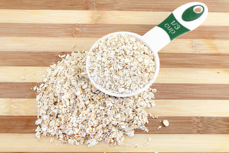 Serving Of Oatmeal Stock Photography
