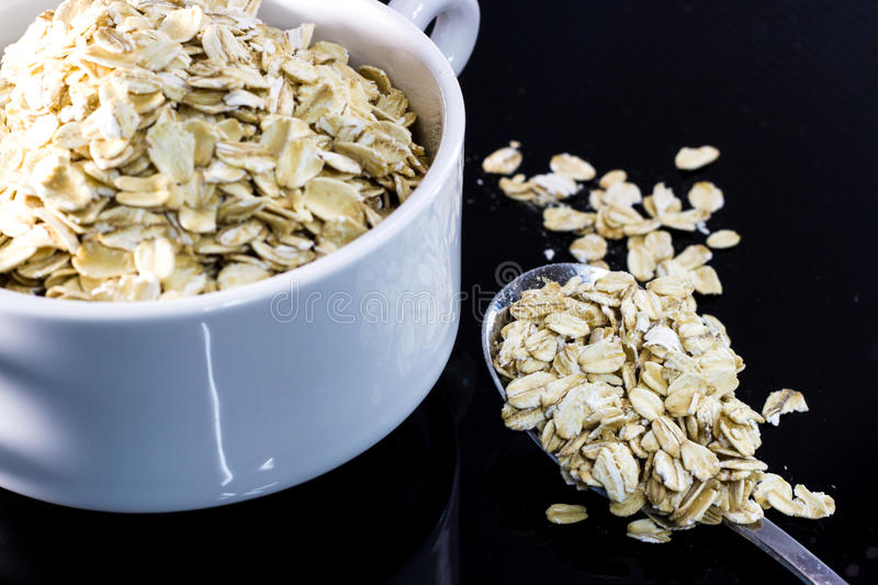 Download Serving of oatmeal stock photo. Image of grain, health - 30495602