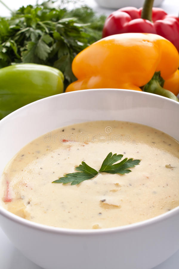 Free Serving Of Cream Soup Royalty Free Stock Photo - 9779545