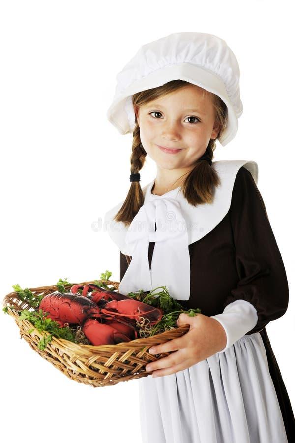 Serving Pilgrim royalty free stock photo