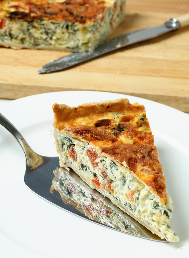 Download Serving Spinach Beet Quiche Stock Photo - Image: 23208878