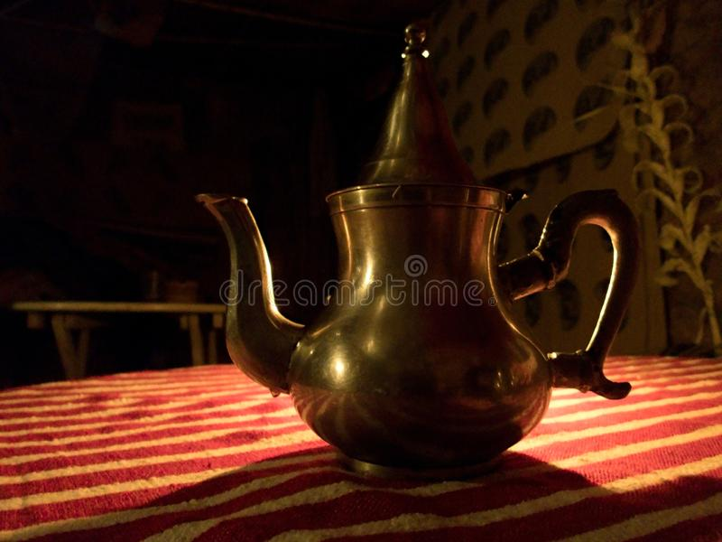 Serving of a typical moroccan tea royalty free stock image