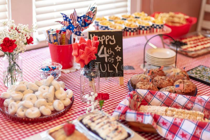 Watermelon stars for 4th of July brunch stock photos
