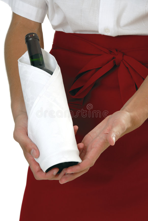 Download Serving wine stock image. Image of holding, white, sommelier - 2689801