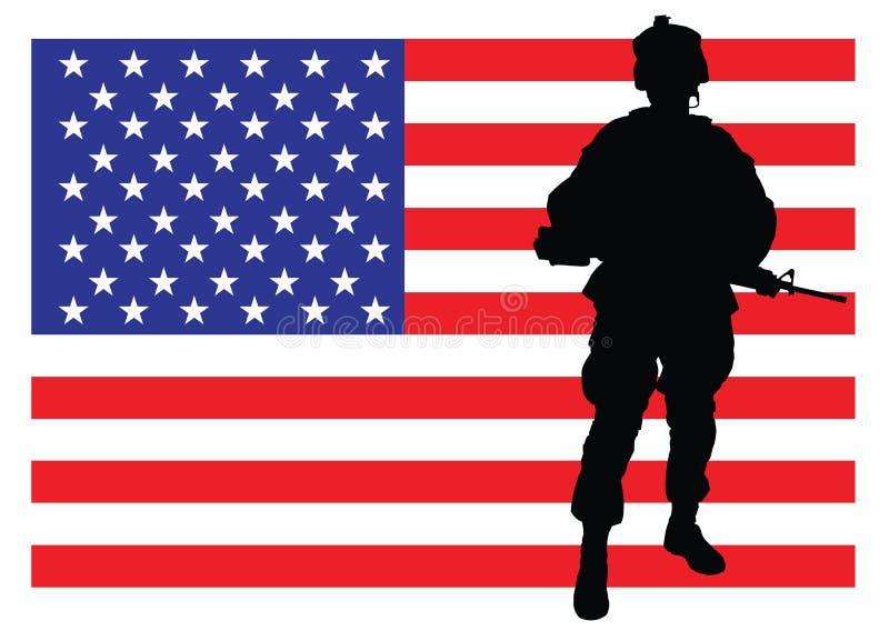 Servir la nation illustration libre de droits