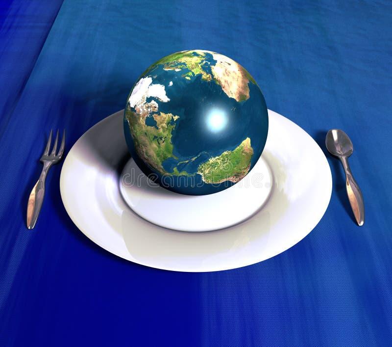 Servir la terre illustration libre de droits