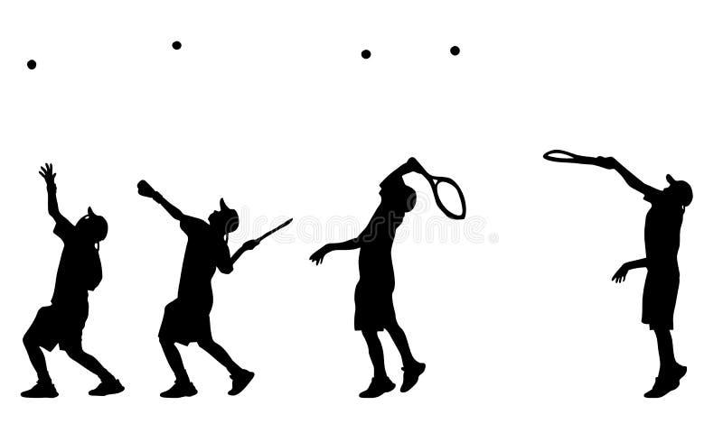Servire del tennis illustrazione di stock