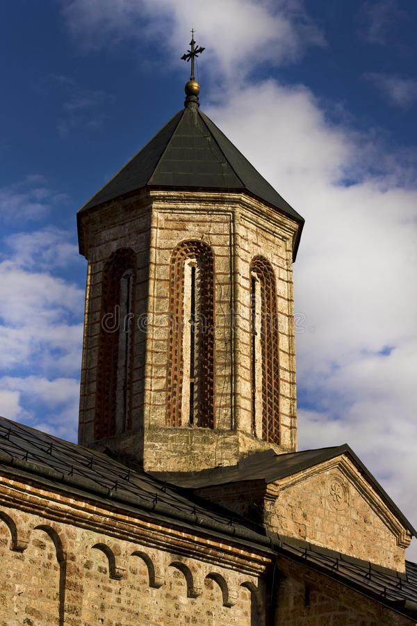 Servisch orthodox klooster royalty-vrije stock afbeelding