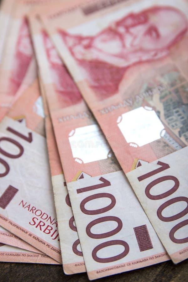 Servische duizend dinar-rekeningen royalty-vrije stock afbeelding