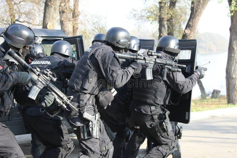 Servische Gendarmerieexploitanten stock afbeelding
