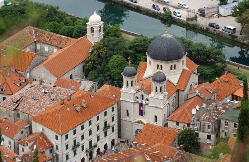 Servische orthodoxe kerk van St. Nicholas in Kotor, stock fotografie