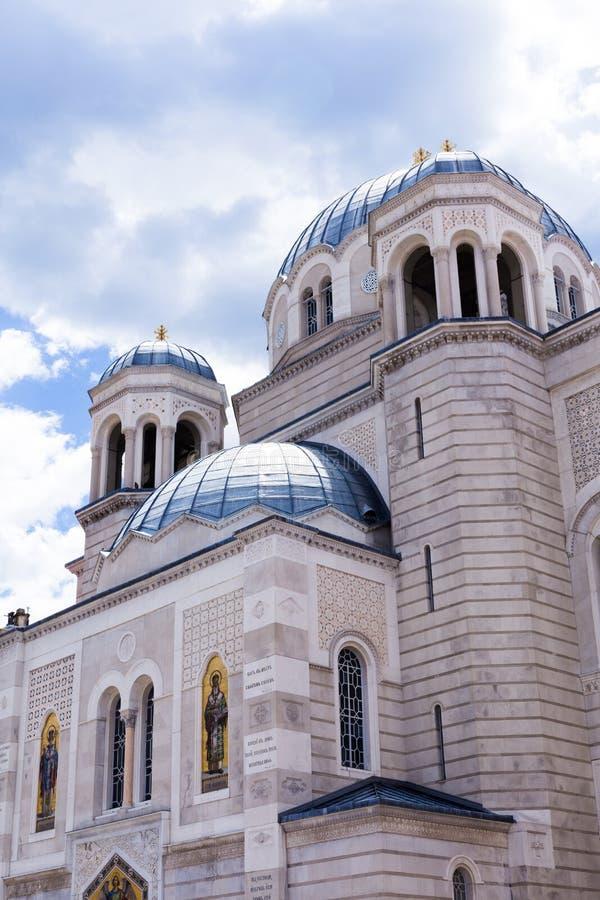 Servische Orthodoxe Parochiekerk van Thaumaturge van Heilige Spyridion in Genoa Street royalty-vrije stock fotografie