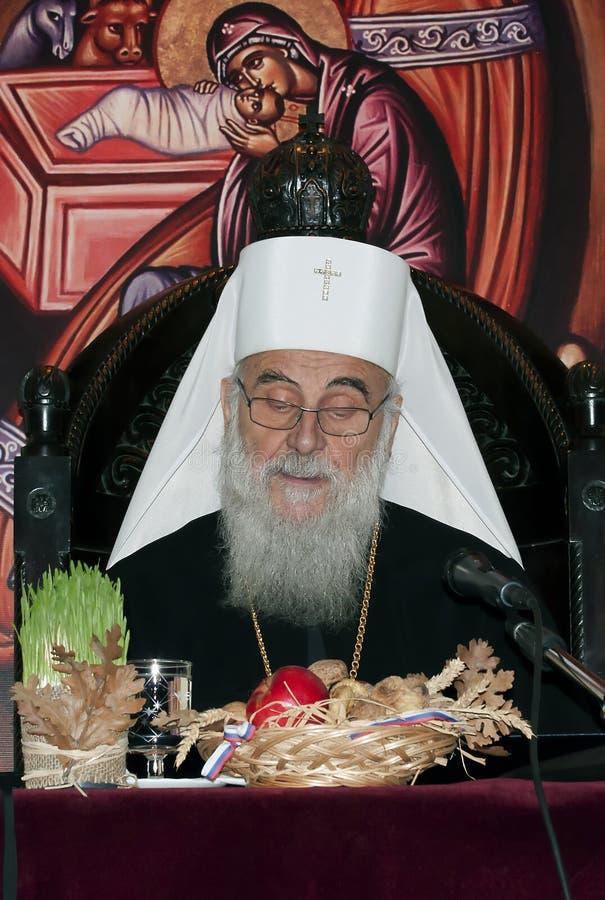 Servische Patriarch irinej-11 royalty-vrije stock afbeelding