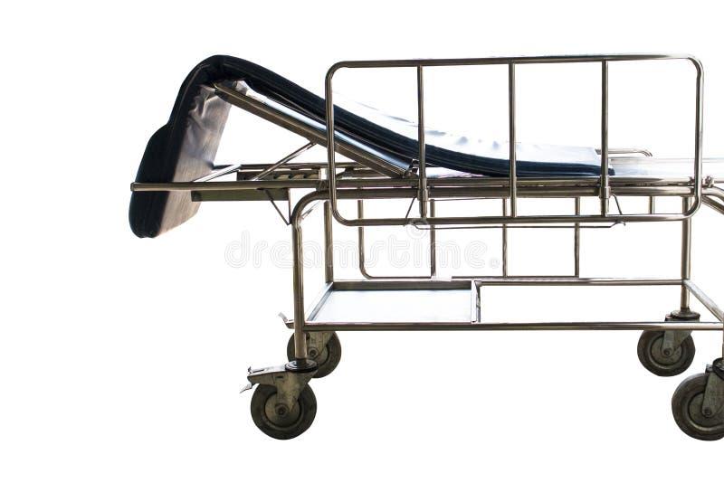 Servizi aspettanti del letto di ospedale e delle sedie a rotelle immagine stock libera da diritti