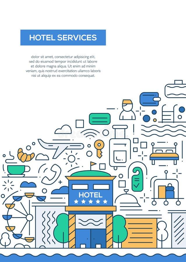 Servizi degli esercizi alberghieri - allini il modello A4 del manifesto dell'opuscolo di progettazione