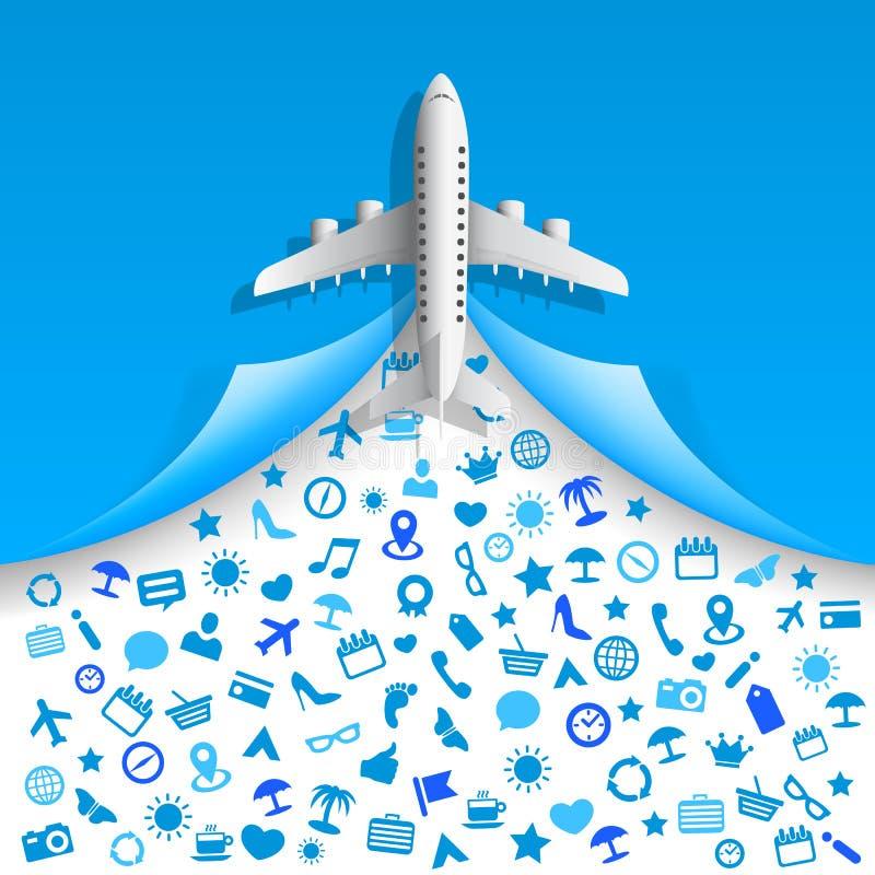 Servizi delle icone di viaggio illustrazione di stock