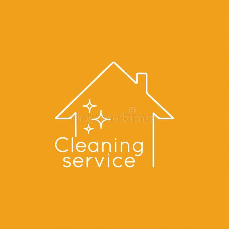 Servizi di pulizia dell'icona illustrazione di stock