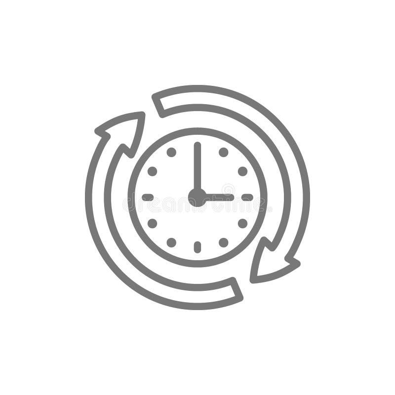Servizi disponibili, disponibilit?, 24 ore di linea icona di sostegno illustrazione di stock