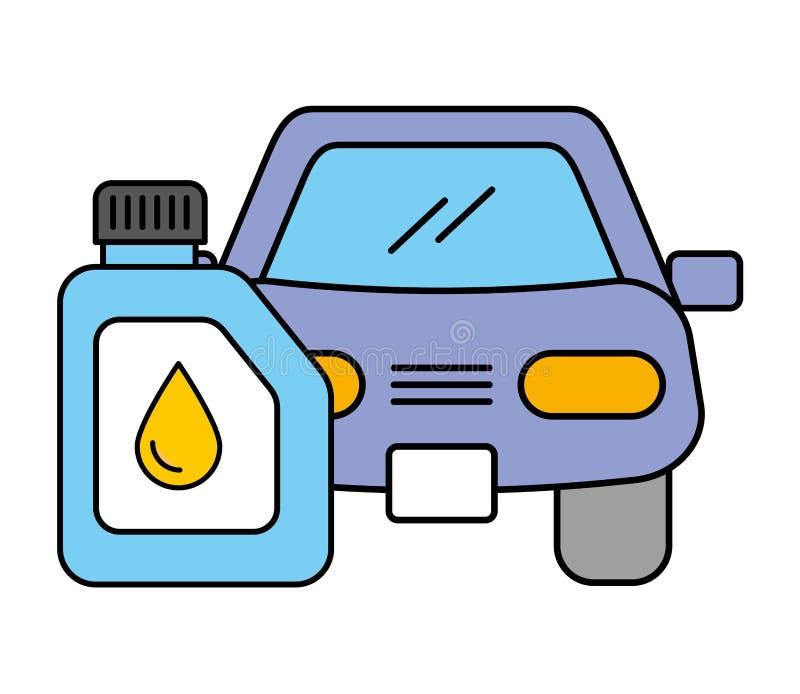 Servizio automobilistico dell'olio di gallone del veicolo dell'automobile royalty illustrazione gratis