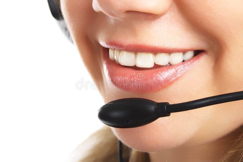 Servizio clienti amichevole isolato immagine stock