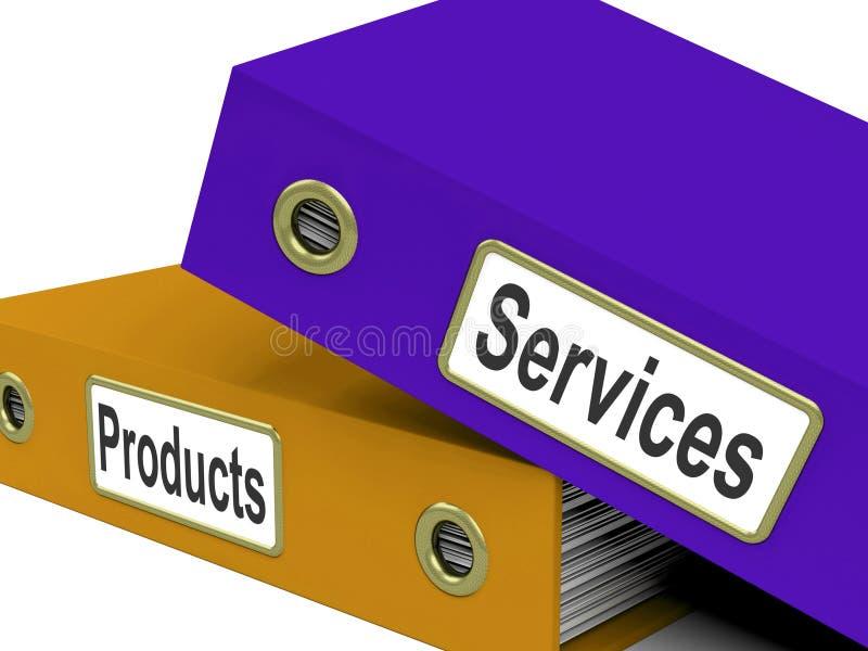 Servizio commerciale di show business delle cartelle dei prodotti di servizi illustrazione di stock
