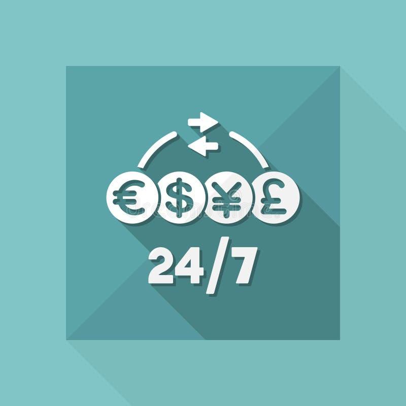 Servizio costante del trasferimento di denaro - icona di web di vettore royalty illustrazione gratis