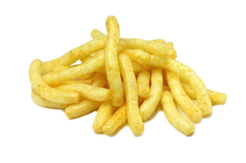 Servizio degli spuntini fritti della patata immagine stock