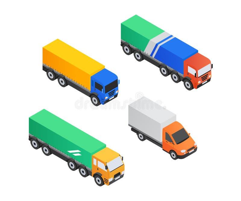 Servizio del camion - elementi variopinti isometrici di vettore moderno illustrazione vettoriale