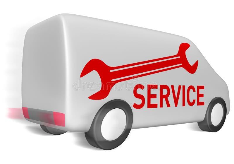 Servizio del furgone di consegna illustrazione vettoriale