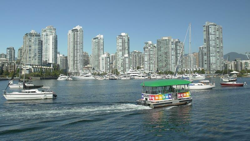 Servizio del tassì dell'acqua di Vancouver fotografie stock libere da diritti