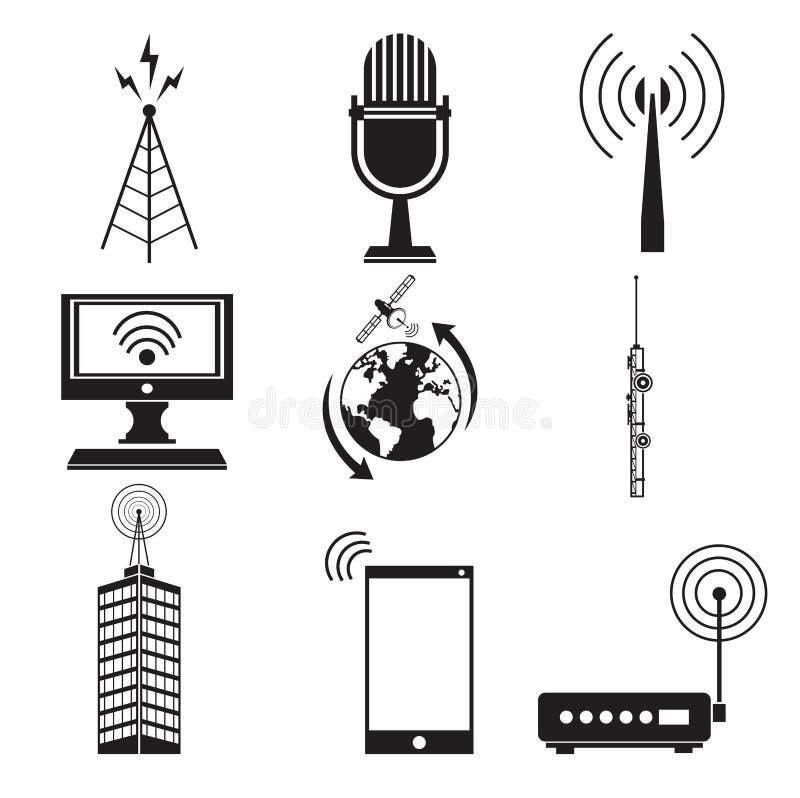 Servizio del trasmettitore di informazioni di comunicazione della raccolta royalty illustrazione gratis