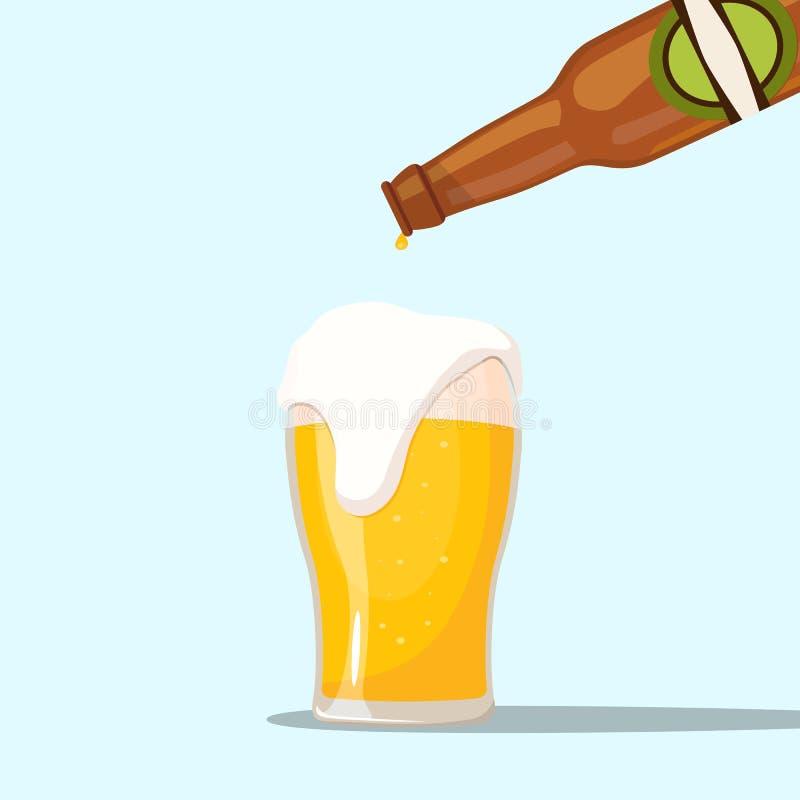 Servizio della birra su un fondo blu royalty illustrazione gratis