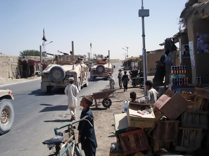 Servizio della città nell'Afghanistan immagine stock