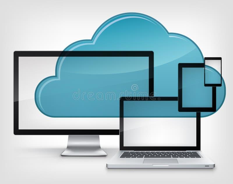 Servizio della nube illustrazione di stock