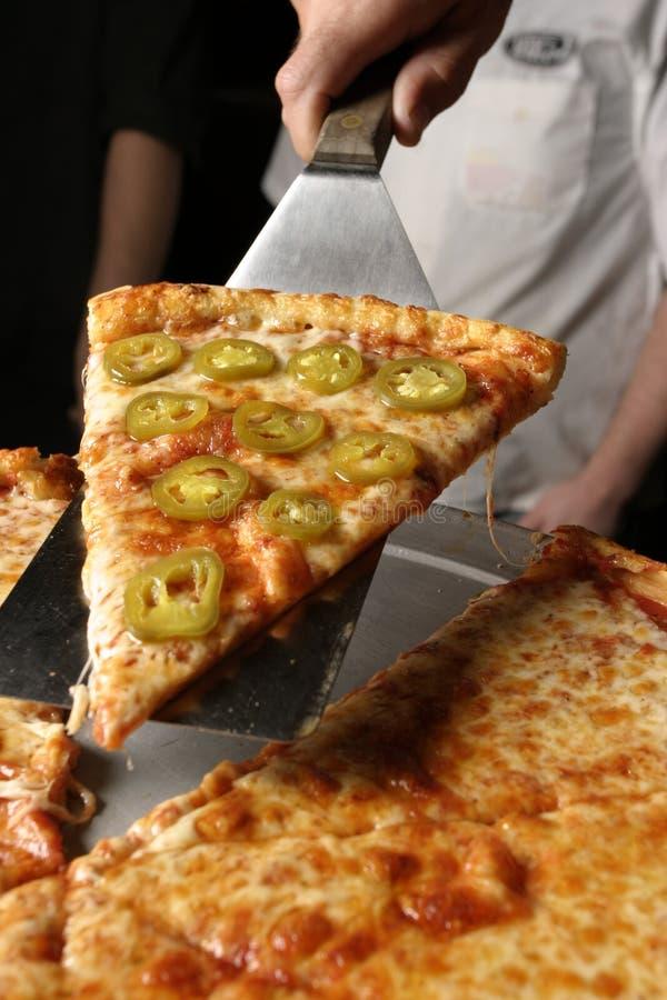 Servizio della pizza del pepe fotografia stock libera da diritti